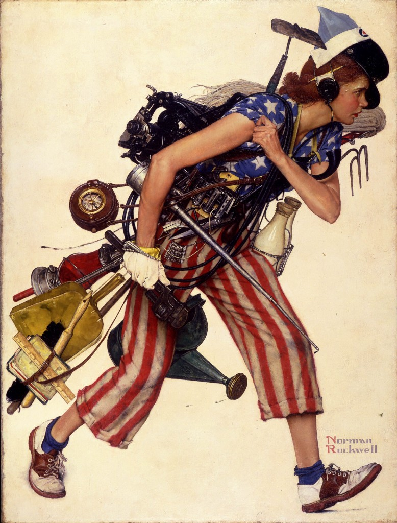 Miss Liberty by Norman Rockwell
