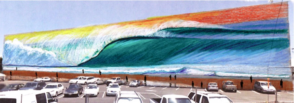 Sketch - Largest wave mural by Hilton Alves