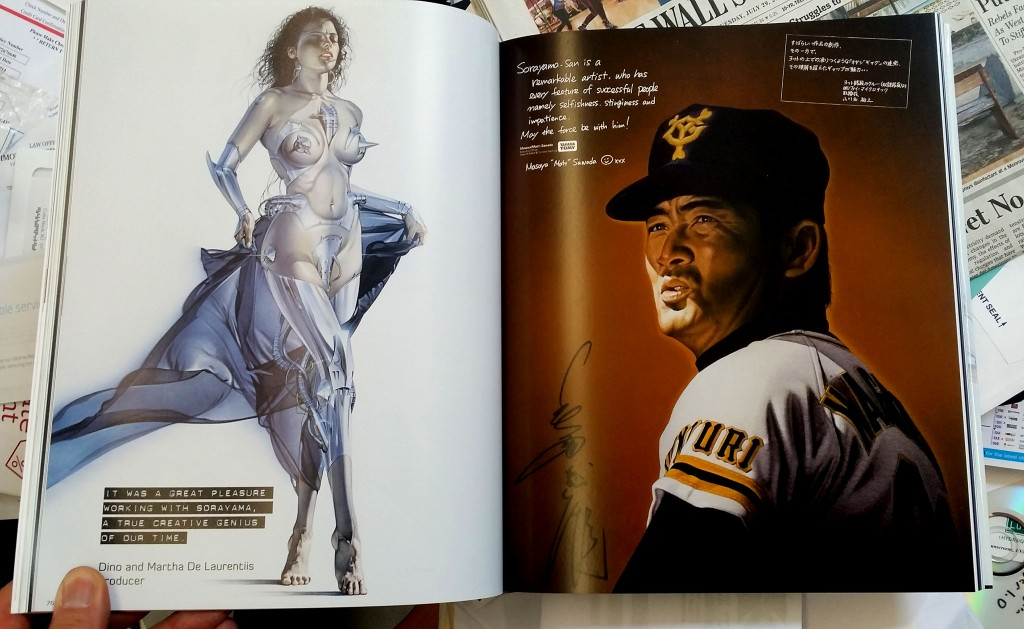 A spread from SORAYAMA: XL-MASTERWORKS EDITION, Sorayama's new book, available through Airbrush Action. You may order by calling 732-223-7878.
