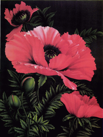Garie Blackwell Airbrushing | Airbrush Artist | Poppies