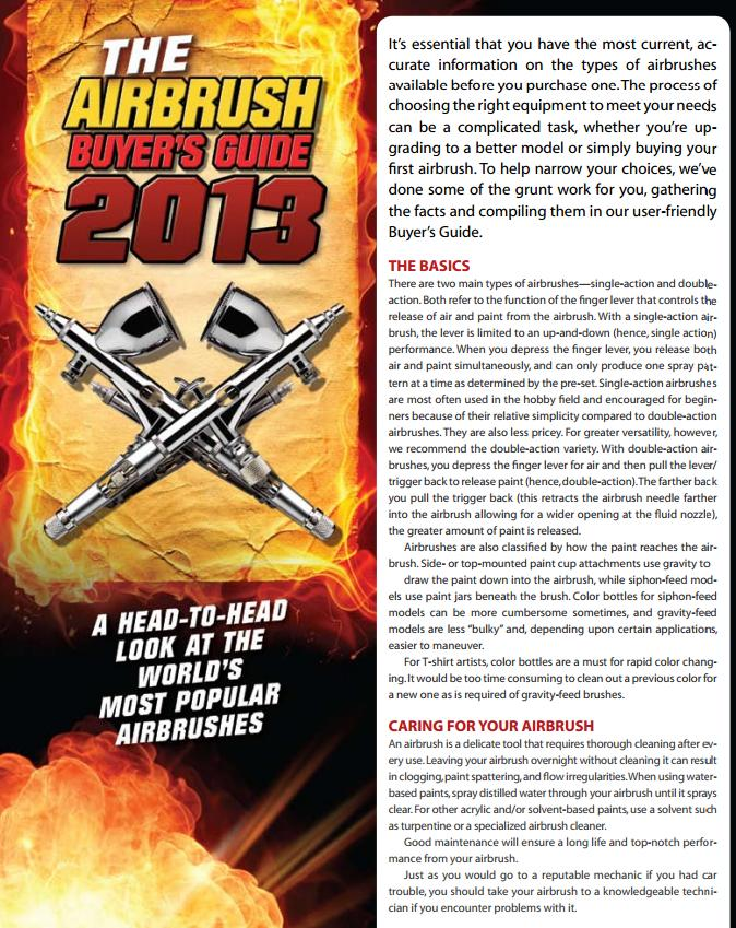 airbrush buyer guide 2013