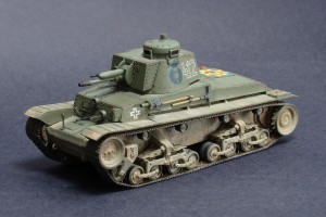 Miniature tank airbrushed with the Neo CN